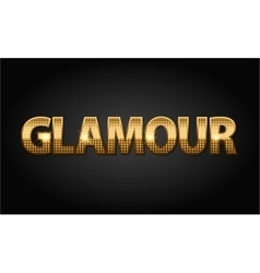 Golden glamour luxury word in black vector image