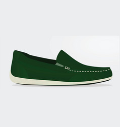 green loafer vector image