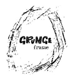 grunge ink frame distressed texture vector image