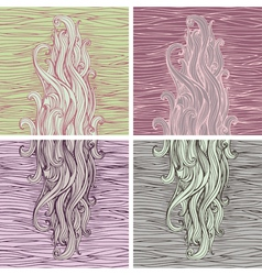 Hair backgrounds vector