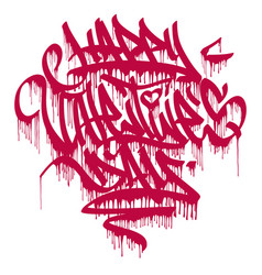happy valentines day graffiti dripping marker vector image