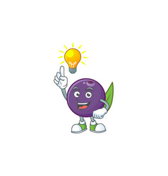 Have an idea acai berries character for fresh vector