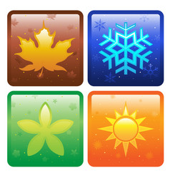 Icons for four seasons vector
