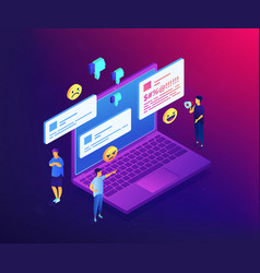 internet trolling isometric 3d concept vector image