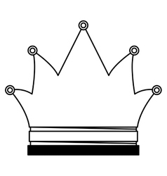 Isolated and silhouette crown design vector image