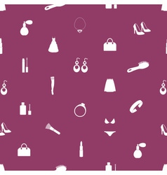 Lady stuff needs icons seamless pattern eps10 vector