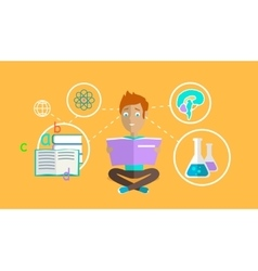 Man Learning Ability Concept Design vector image