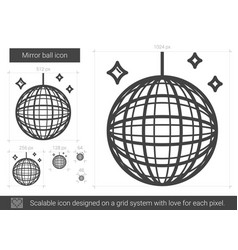 Mirror ball line icon vector
