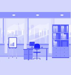 modern office interior cartoon style vector image