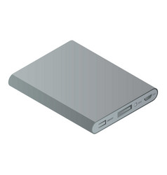 Modern power bank icon isometric style vector