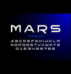 modern space style font vector image