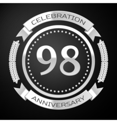 Ninety eight years anniversary celebration with vector