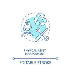Physical asset management concept icon vector