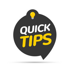Quick tips icon badge top tips advice note icon vector