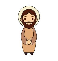Saint joseph father manger character vector