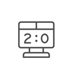 scoreboard line icon vector image