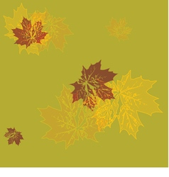 seamless wallpaper yellow maple leaves vector image