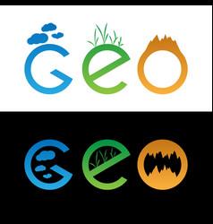 set of geo logo vector image vector image