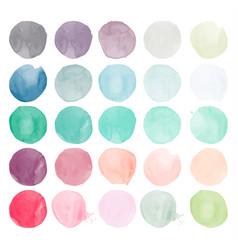 Set watercolor shapes vector