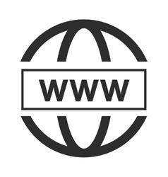 Simple www icon vector