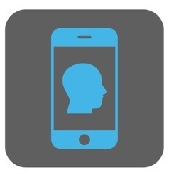 Smartphone Contact Human Portrait Rounded Square vector image