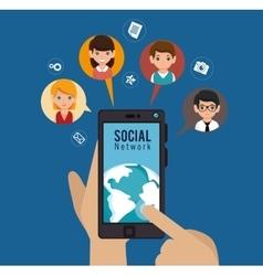 Social media network globe isolated vector
