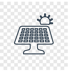 Solar panel concept linear icon isolated on vector