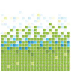 squares texture green vector image