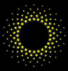 Star circles round frame background vector image