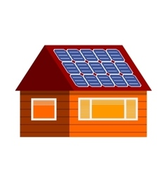 Sun energy house vector