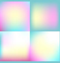 Sweet color blurred background set pastel color vector