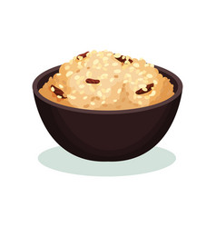 Traditional rice dish indian cuisine food vector