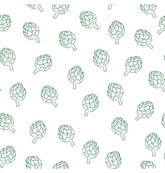Vitamin artichoke doodle pattern for kitchen vector image