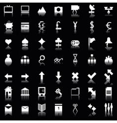 web icons set vector image
