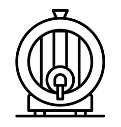 whisky barrel icon outline style vector image