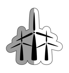 windmills energy alternative icon vector image