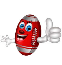 Cartoon american football thumb up vector