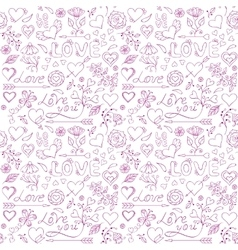 Seamless pattern for Valentine s day vector image