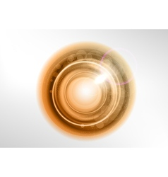 background brown light center star vector image vector image