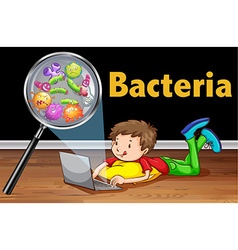 Bacteria on computer laptop vector image
