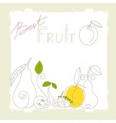 best fruit vector image vector image