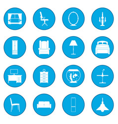 furniture icon blue vector image vector image