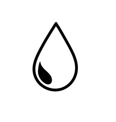 line natural water drop to environment care vector image