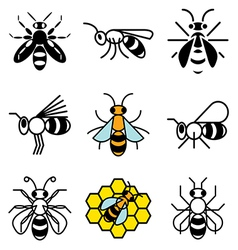 logo icons bee vector image vector image