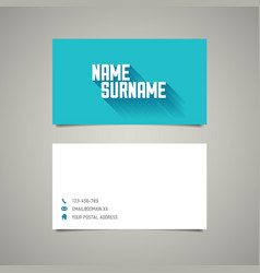 Modern simple vertical business card template vector image modern simple business card template with long vector image colourmoves