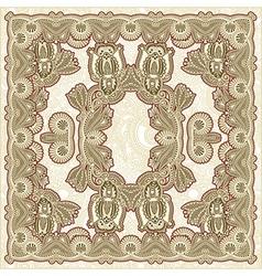 Ornamental Floral Paisley Bandana vector image vector image