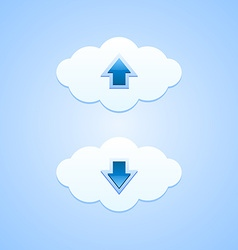 Up and down clouds vector image vector image