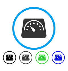 Weight meter rounded icon vector
