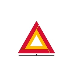 Car emergency sign icon folding safety vector