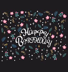 celebration background with happy birthday hand vector image